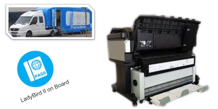 GeraFold Lady3 online to HP designjet T3500