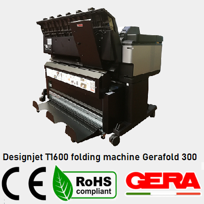 Designjet T1600 folding machine Gerafold 300