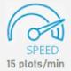 15 speed icon